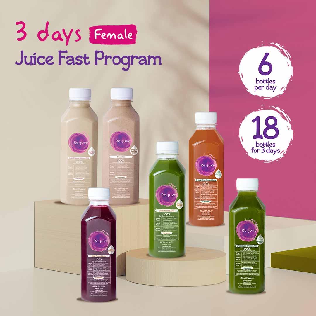 Rejuve 3 Days Juice Fast Program Female Surabaya