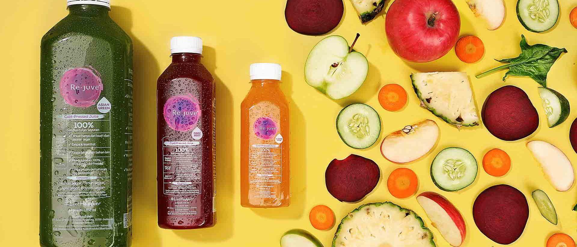 Newly Launched Cold Pressed Juice Re.juve dengan Ukuran yang Lebih Besar