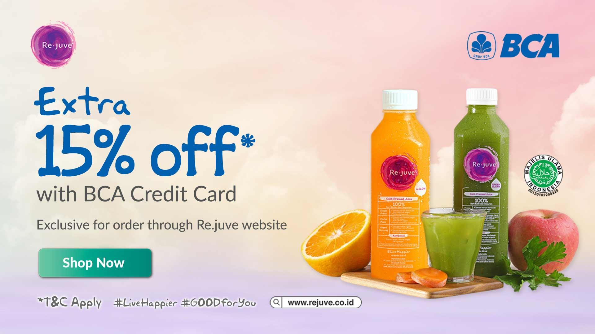 Rejuve BCA Extra Discount Promo Special Offer