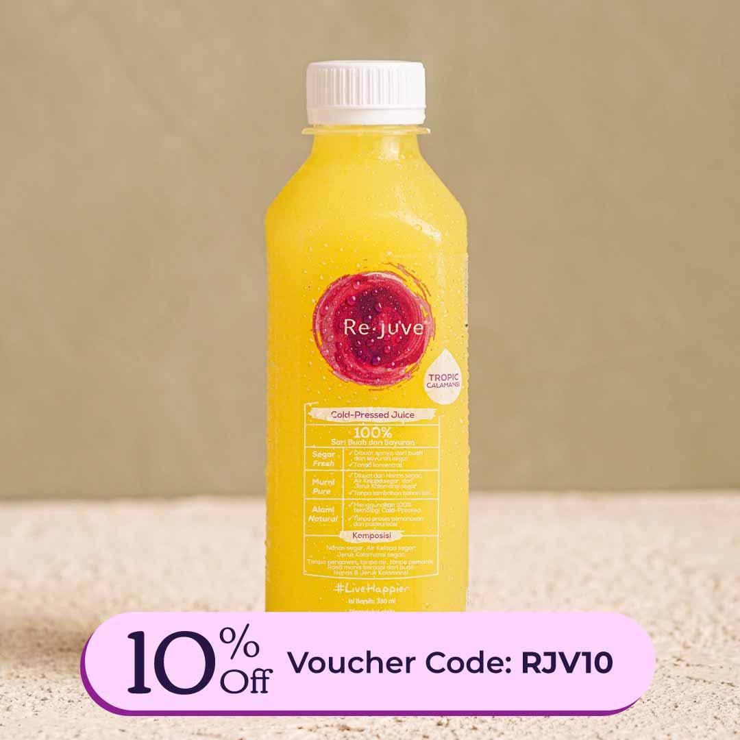 Rejuve Cold Pressed Juice Tropic Calamansi Pineapple Coconut Water Calamansi